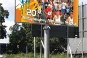 billboard PILA maraton konstrukcja
